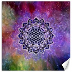 Flower Of Life Indian Ornaments Mandala Universe Canvas 16  X 16