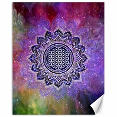 Flower Of Life Indian Ornaments Mandala Universe Canvas 16  X 20