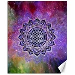 Flower Of Life Indian Ornaments Mandala Universe Canvas 16  x 20   20 x16 Canvas - 1
