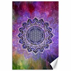 Flower Of Life Indian Ornaments Mandala Universe Canvas 20  X 30   by EDDArt