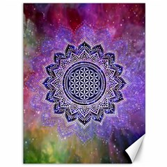 Flower Of Life Indian Ornaments Mandala Universe Canvas 36  X 48   by EDDArt
