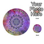 Flower Of Life Indian Ornaments Mandala Universe Playing Cards 54 (Round)  Front - Joker1