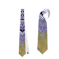 Flower Of Life Indian Ornaments Mandala Universe Neckties (two Side)  by EDDArt