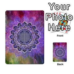 Flower Of Life Indian Ornaments Mandala Universe Multi Purpose Cards (rectangle)