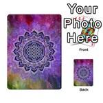 Flower Of Life Indian Ornaments Mandala Universe Multi-purpose Cards (Rectangle)  Back 25