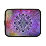 Flower Of Life Indian Ornaments Mandala Universe Netbook Case (Small)  Front