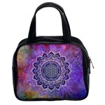 Flower Of Life Indian Ornaments Mandala Universe Classic Handbags (2 Sides) Front