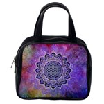 Flower Of Life Indian Ornaments Mandala Universe Classic Handbags (2 Sides) Back