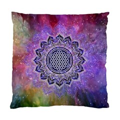 Flower Of Life Indian Ornaments Mandala Universe Standard Cushion Case (one Side) by EDDArt