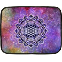 Flower Of Life Indian Ornaments Mandala Universe Fleece Blanket (mini) by EDDArt