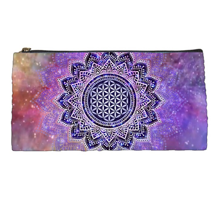 Flower Of Life Indian Ornaments Mandala Universe Pencil Cases