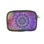 Flower Of Life Indian Ornaments Mandala Universe Coin Purse Back