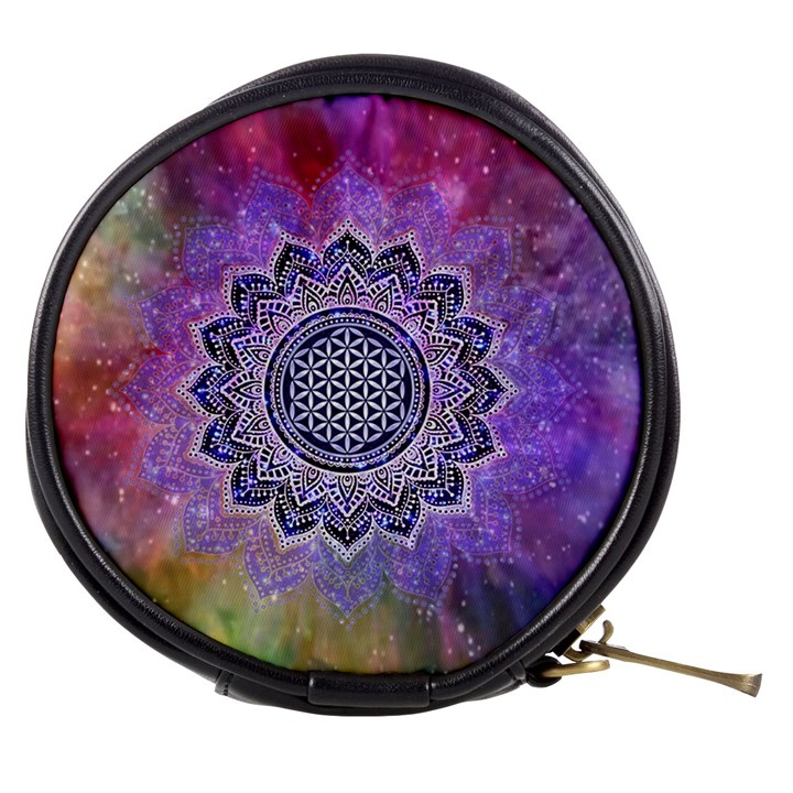 Flower Of Life Indian Ornaments Mandala Universe Mini Makeup Bags