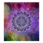 Flower Of Life Indian Ornaments Mandala Universe Shower Curtain 66  x 72  (Large)  58.75 x64.8 Curtain