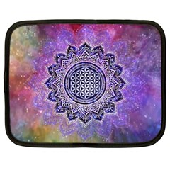 Flower Of Life Indian Ornaments Mandala Universe Netbook Case (xl)