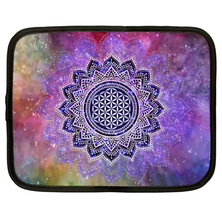 Flower Of Life Indian Ornaments Mandala Universe Netbook Case (XXL)