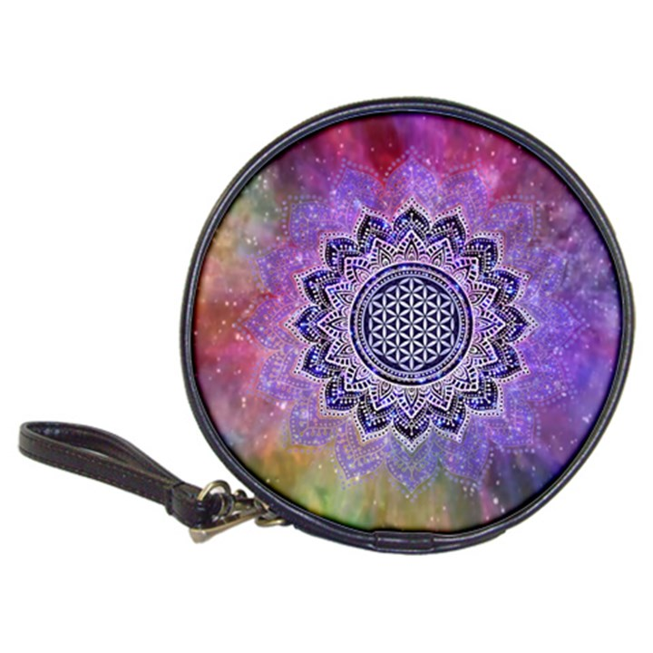 Flower Of Life Indian Ornaments Mandala Universe Classic 20-CD Wallets