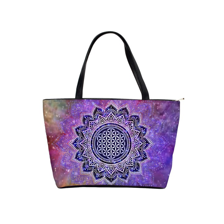 Flower Of Life Indian Ornaments Mandala Universe Shoulder Handbags