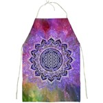 Flower Of Life Indian Ornaments Mandala Universe Full Print Aprons Front