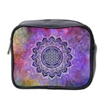 Flower Of Life Indian Ornaments Mandala Universe Mini Toiletries Bag 2-Side Front