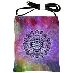 Flower Of Life Indian Ornaments Mandala Universe Shoulder Sling Bags