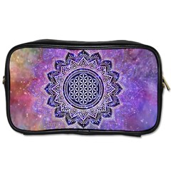 Flower Of Life Indian Ornaments Mandala Universe Toiletries Bags by EDDArt