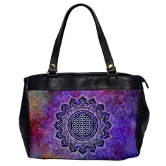 Flower Of Life Indian Ornaments Mandala Universe Office Handbags