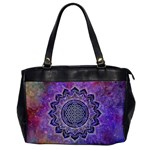 Flower Of Life Indian Ornaments Mandala Universe Office Handbags Front
