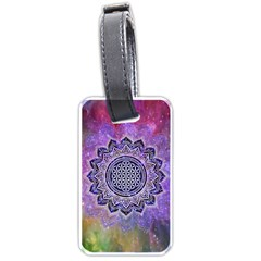 Flower Of Life Indian Ornaments Mandala Universe Luggage Tags (two Sides) by EDDArt