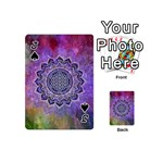 Flower Of Life Indian Ornaments Mandala Universe Playing Cards 54 (Mini)  Front - SpadeJ