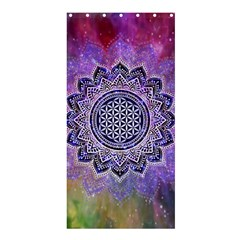 Flower Of Life Indian Ornaments Mandala Universe Shower Curtain 36  X 72  (stall)