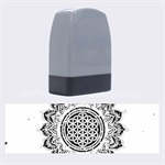 Flower Of Life Indian Ornaments Mandala Universe Name Stamps 1.4 x0.5  Stamp