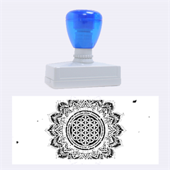 Flower Of Life Indian Ornaments Mandala Universe Rubber Stamps (large)