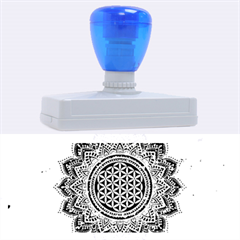 Flower Of Life Indian Ornaments Mandala Universe Rubber Address Stamps (xl) by EDDArt