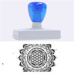 Flower Of Life Indian Ornaments Mandala Universe Rubber Address Stamps (XL) 3.13 x1.38  Stamp