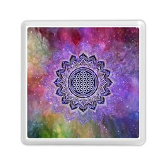 Flower Of Life Indian Ornaments Mandala Universe Memory Card Reader (square)  by EDDArt