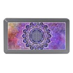 Flower Of Life Indian Ornaments Mandala Universe Memory Card Reader (Mini) Front