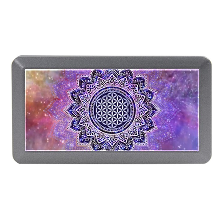 Flower Of Life Indian Ornaments Mandala Universe Memory Card Reader (Mini)