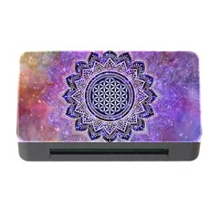 Flower Of Life Indian Ornaments Mandala Universe Memory Card Reader With Cf by EDDArt