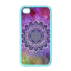 Flower Of Life Indian Ornaments Mandala Universe Apple Iphone 4 Case (color) by EDDArt