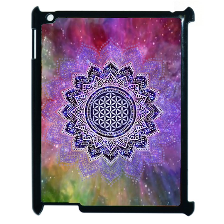 Flower Of Life Indian Ornaments Mandala Universe Apple iPad 2 Case (Black)