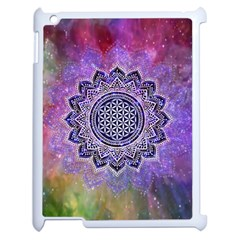 Flower Of Life Indian Ornaments Mandala Universe Apple Ipad 2 Case (white) by EDDArt