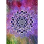 Flower Of Life Indian Ornaments Mandala Universe Heart 3D Greeting Card (7x5) Inside
