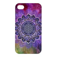 Flower Of Life Indian Ornaments Mandala Universe Apple Iphone 4/4s Hardshell Case