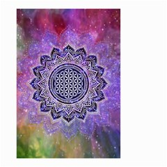 Flower Of Life Indian Ornaments Mandala Universe Small Garden Flag (two Sides) by EDDArt