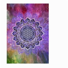 Flower Of Life Indian Ornaments Mandala Universe Large Garden Flag (two Sides) by EDDArt