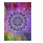 Flower Of Life Indian Ornaments Mandala Universe Large Garden Flag (Two Sides) Back