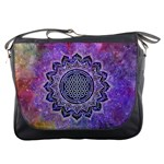 Flower Of Life Indian Ornaments Mandala Universe Messenger Bags Front