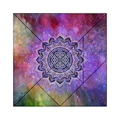 Flower Of Life Indian Ornaments Mandala Universe Acrylic Tangram Puzzle (6  X 6 ) by EDDArt