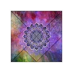 Flower Of Life Indian Ornaments Mandala Universe Acrylic Tangram Puzzle (4  X 4 ) by EDDArt